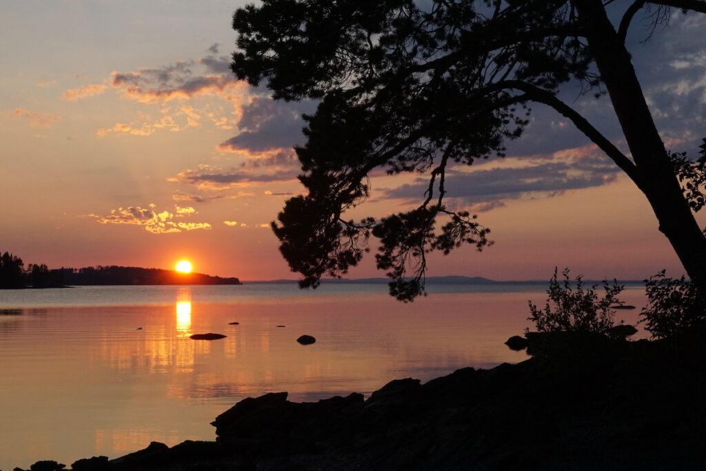 Solnedgång från Andersön i Storsjön